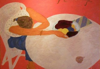 ボンコンパン 「綺麗な腕」 油彩10号