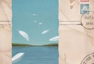 「再見」キャンバス、油彩、砂 53×53cm