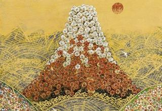 平松礼二「日本の祈り」フレスコグラフ 26×33㎝