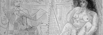 ピカソ 「画家とモデル」 リトグラフ