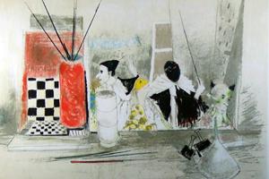 ジャンセン 「ピエロと静物」