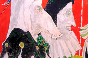 ジャンセン 「鳥のピエロ、ポスターの為の習作」