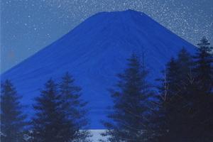 千住博 「富士夜想」日本画3号