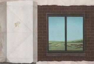 「働き者」キャンバス、油彩、砂 53×53cm