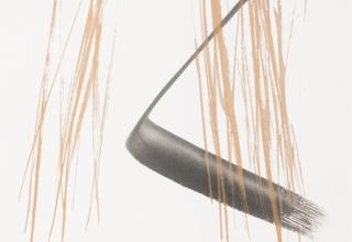 篠田桃紅 「かたらい」 56×38cm