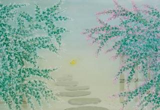 中西 和 「秋日」 洗い出し 37×74