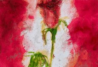 大和田いずみ 「Rose」 油彩5号
