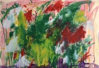 吉岡耕二 「Flowers」 オイルオンペーパー 61×73cm