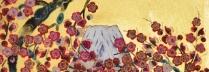 平松礼二 「富士梅花図」  日本画6号スクエア