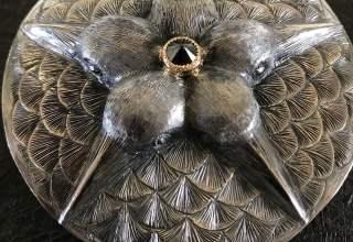 秋濱克大 「鳥の筥」径8.5H3.5