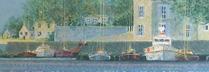 ブーリエ 「反映のゆらめき」 油彩 46x56