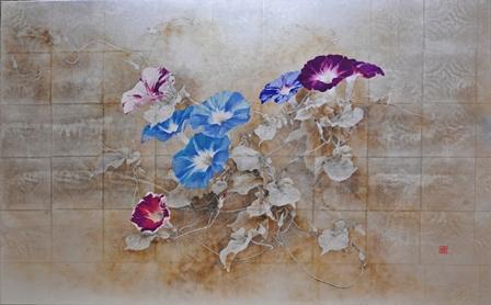 小倉亜矢子 「あけぼの覚えて」 日本画50号
