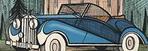 ビュッフェ「BLUE 1973 ROLLS ROYCE」 リトグラフ