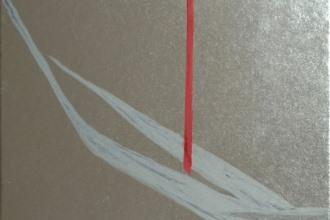 篠田桃紅 「序」 30×25