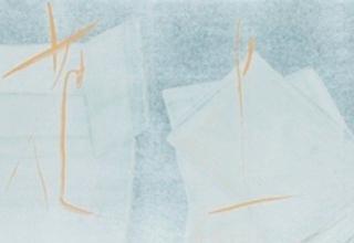 篠田桃紅 「艸上花下」 40×160