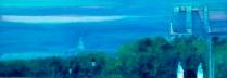 ザッキ 「セーヌに架かる橋 ポンテザール」 油彩150×150㎝