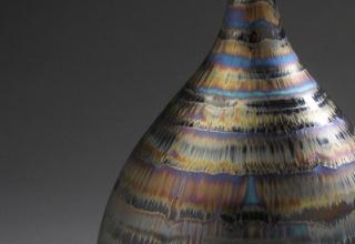 宮村秀明 「Vase with four colors」 磁器