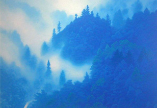 東山魁夷 山嶺湧雲