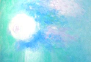クロード・マヌキアン「モニークの花束」 油彩10号