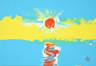 水野竜生 「Beautiful Sun rise」 油彩SM号
