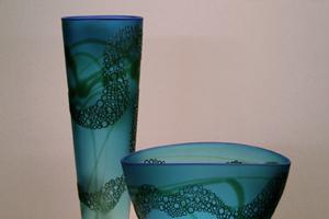 Cylinder & Bowl Aqua Tasman sm