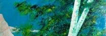 「風のおどろき」油彩 100×100㎝