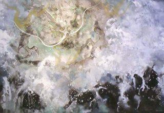 「白龍」日本画 8号