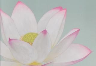 「花中君子」日本画 78×20㎝