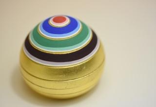 林 美木子「宝尽し宝珠香合」6.5×6.5×H6.5㎝