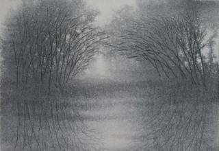 「青時雨」墨 25.7×36.5㎝