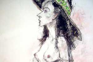 ジャンセン 「帽子の女性」
