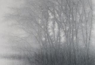 「霧の雫」墨 44×22㎝