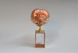 銅変形絞り置物「TOTO」