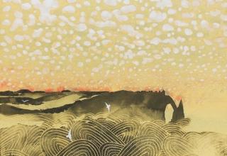 「エトルタの雲」日本画12号