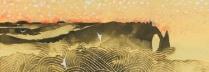 平松礼二「 エトルタの雲 」日本画12号