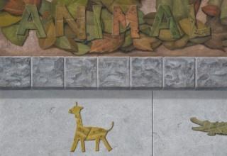 「道端動物園」油彩、砂/キャンバス F20号
