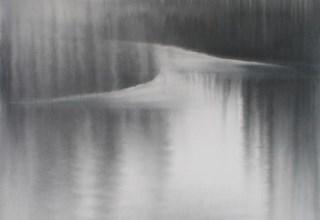「霧の音」墨 80.5×53.3㎝