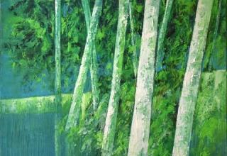 「ヴェネツィアン・グリーン」油彩 20F