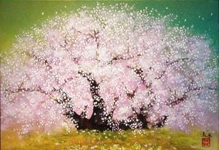 「会津の春」日本画 3号