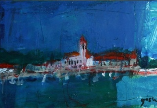 「St.Honorat(Cannes)」油彩 30×60㎝