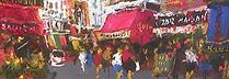 山本彪一「サンジェルマンにて、パリ風景」 油彩