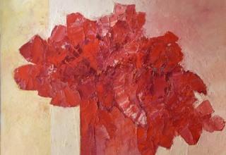 ザッキ 「情熱の花」 油彩25号