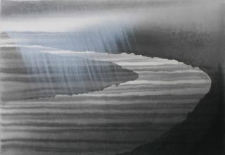 田中みぎわ 「故郷を目指す旅人たち」59.5×84.2㎝