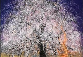 木村圭吾「春宵祇園」日本画20号 72×72cm