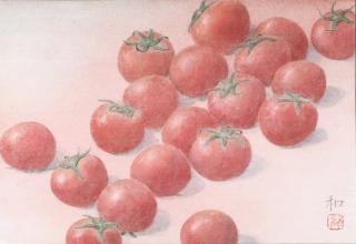 中西和「トマト図」 23×34cm
