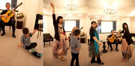 大和田先生のフラメンコは最高!愛息も一緒に踊ります