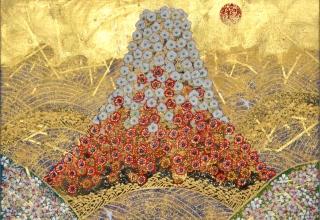 平松礼二 「日本の祈り」日本画6号