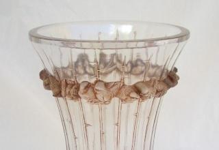 ラリック「花瓶 BOULOURIS」ガラス