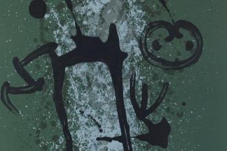 """「無学の人」""""The Iliiterate - Green -"""" リトグラフ/直筆サイン入"""
