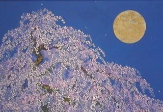 「花ひえの日」日本画 10号